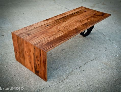 custom made coffee tables custom made wheeled waterfall coffee table by brandmojo
