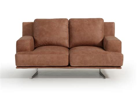 Foster Leather Sofa by Estro Salotti Foster Modern Cognac Italian Leather Sofa Set