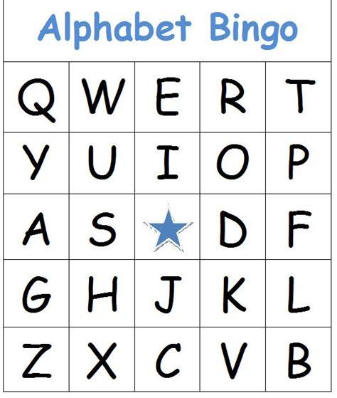 Alphabet Bingo Cards Printables