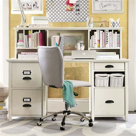 Chatham Large File Storage Desk Hutch Pbteen Desks With Hutches Storage