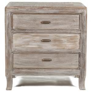 Distressed Nightstands 3 drawer distressed nightstand in salvage finish