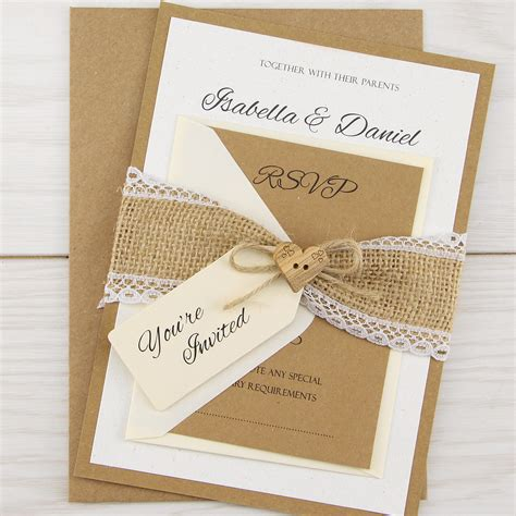 design wedding invitation uk dakota parcel pure invitation wedding invites