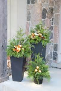 best 25 outdoor christmas planters ideas only on