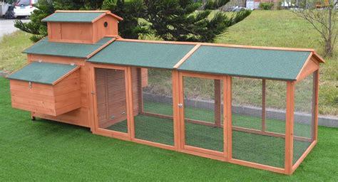 10 ft wood chicken coop backyard hen run house chicken 6