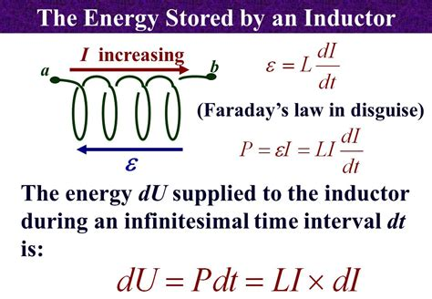energy stored in a inductor inductance ppt