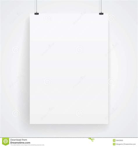 How To Make A Paper Poster - blank paper poster stock vector image of paper eps10