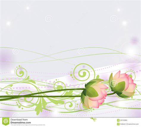 photo layout vector abstract pink lotus flowers lilies vector stock vector
