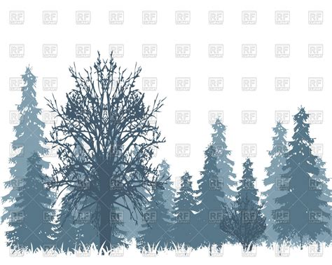 winter woods watercolor clip pine trees snow log cabin watercolor background the landscape winter wood and tree in snow vector illustration of nature landscape 169 cobol1964
