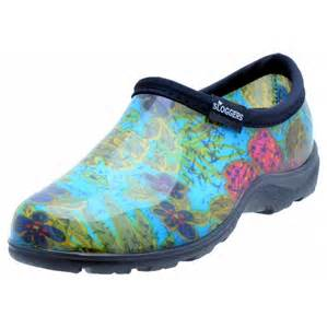 sloggers s print garden shoes blue midsummer