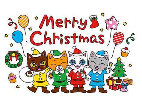 clipart buon natale buon natale festa di natale gatti illustrazione