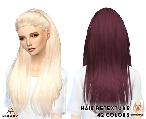 sims 4 hair my sims 4 blog hair retexture and headband by missparaply