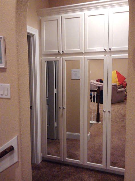 custom wardrobe cabinet  full length mirrored doors