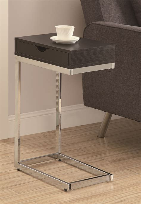 monarch accent table cappuccino 3019 cappuccino chrome metal accent table from monarch