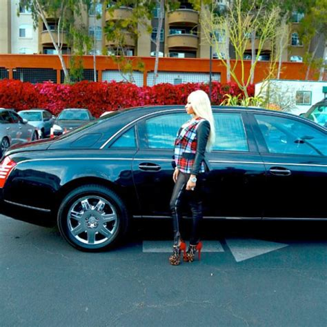 nicki minaj rollin in a maybach cars