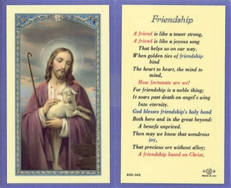 catholic prayer for buying a house friendship prayer holy card