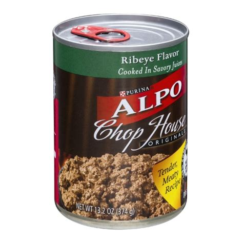 alpo chop house dog food purina alpo dog food chop house originals ribeye flavor 13 2 oz prestofresh