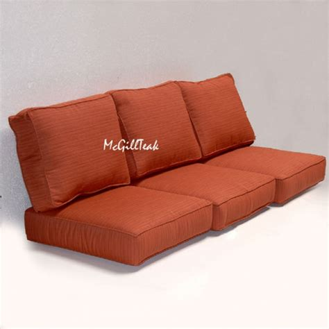 settee pillows outdoor deep seating sofa cushion sunbrella cushions