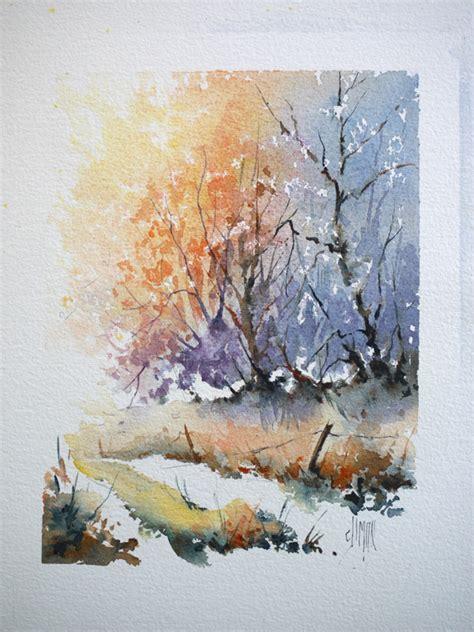 Paint A L by Chemin De For 234 T 224 L Aquarelle Positif N 233 Gatif