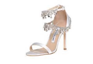 wedding shoes jeweled heels 1455 new manolo blahnik white satin houristra jeweled wedding shoes ebay