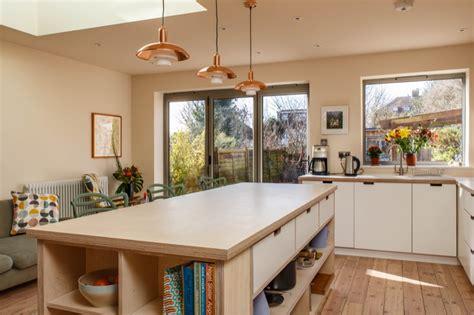 white wash birch ply kitchen wood works brighton