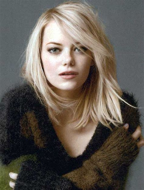 emma stone platinum blonde really popular long bob haircuts of 2016 bob hairstyles