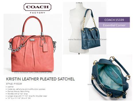 Coach Kristin 2nd Original essential corner satchels kristin