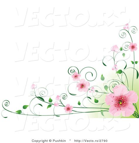 Amarilis Flower Instant Square Black Annerdh vector of pink cherry blossoms on vines green and