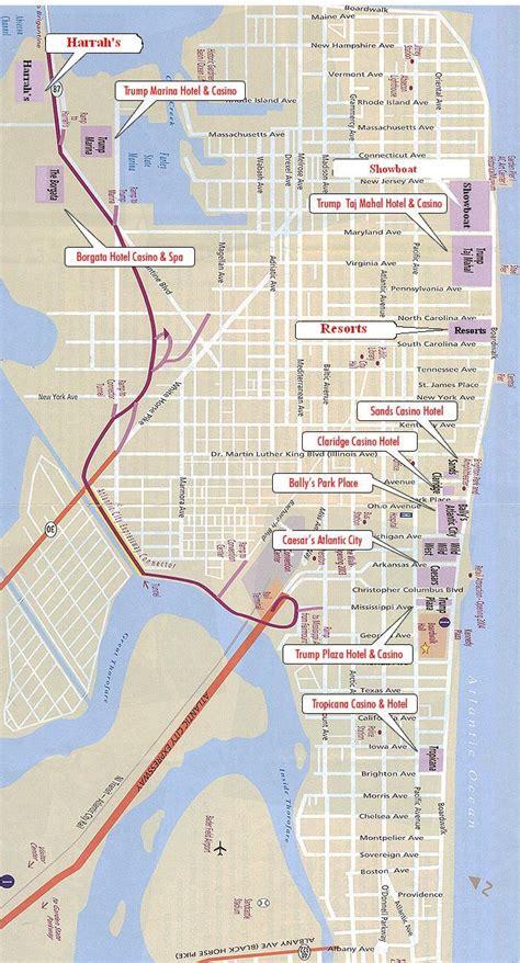 atlantic city map atlantic city tourist map atlantic city mappery