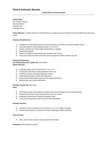 resume for nursing clinical instructor resumes design