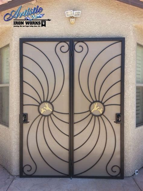 Wrought Iron Patio Doors Hummingbird Wrought Iron Security Screen Patio Doors