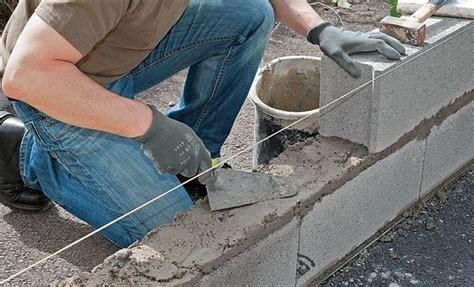 Monter Un Mur En 5370 by Mur En Parpaing Comment Construire Mur