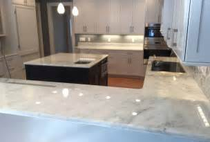 this home s white marble countertops are etch and stain