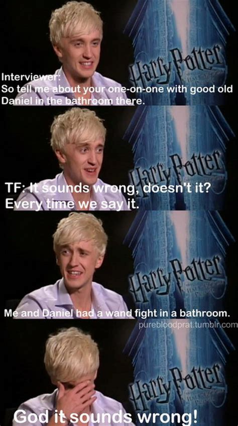 Harry Potter Funny Memes - draco malfoy and harry potter in the bathroom really
