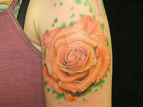 orange rose tattoos images by eileen goldberg