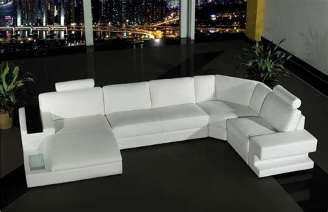u shaped leather sectional with chaise modern white u shape leather sectional with chaise