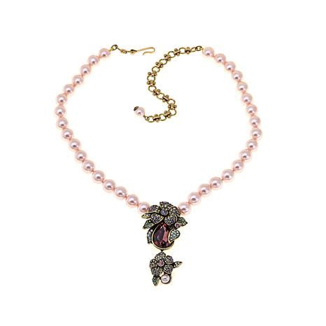 necklaces for women beaded necklaces jewelry hsn heidi daus quot prima petal pretty quot beaded crystal drop