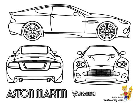 Astonmartin Coloring Pages Aston Martin Coloring Pages