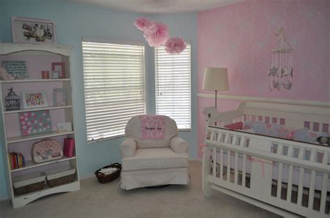 pink nursery harper joy s peaceful pink and blue nursery project nursery