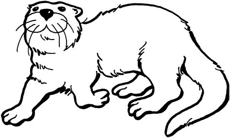 free otter coloring pages
