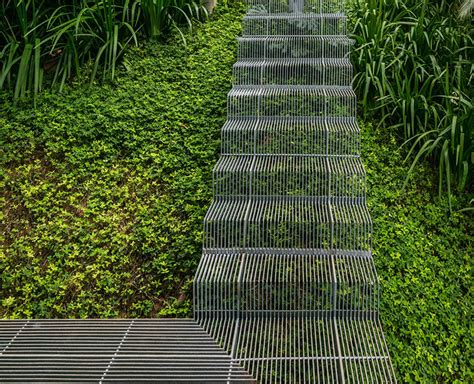 Landscape Stairs Design Landscape Design Idea Low Impact Stairs That Allow Plants To Grow Below Them Contemporist