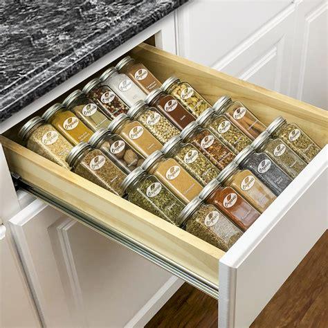 lynk professional spice rack tray  tier heavy gauge