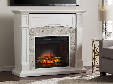 Electric Fireplace Dresser by Seneca Infrared Electric Fireplace Media Cabinet In White
