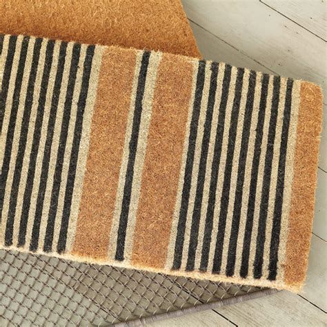 Striped Doormat Striped Doormat Contemporary Doormats Other Metro