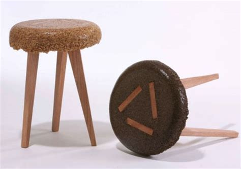 Upcycled Stool by Cool Stools Wood Sawdust Upcycled Into Funky Furniture