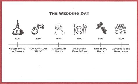 Wedding Details Card Template Timeline by Bicoastal Wedding Invitations Timeline Inserts