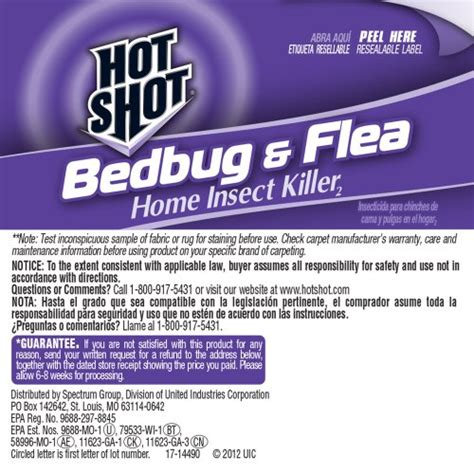 hot shot bed bug hot shot bedbug and flea home insect killer ready to use