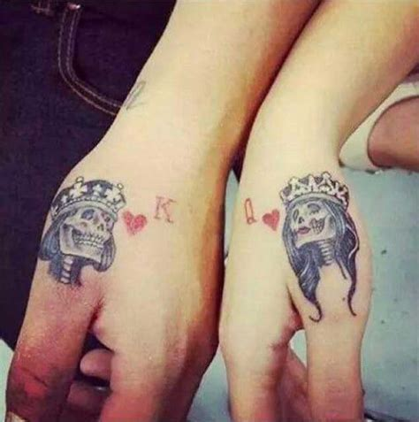 queen tattoo in hand 40 king queen tattoos that will instantly make your