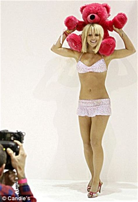 britney spears shows off her body in candie's lingerie