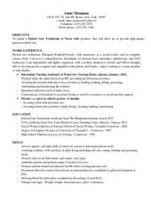 Patient Care Assistant Sle Resume by Dialysis Technician Resume Inspiredshares