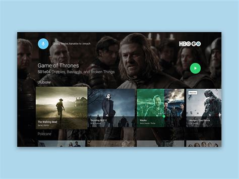 hbo go android tv hbo go android tv concept by andrew mialszygrosz dribbble